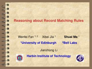Reasoning about Record Matching Rules