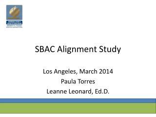 SBAC Alignment Study