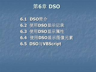 第6章  DSO