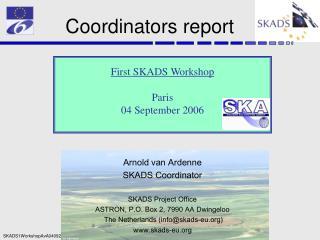 Coordinators report