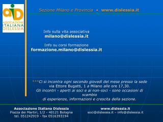 Sezione Milano e Provincia   �   dislessia.it