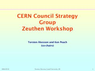 CERN Council Strategy Group Zeuthen Workshop