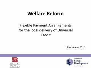 Welfare Reform
