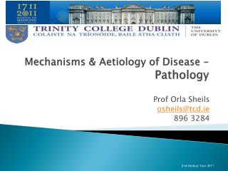 Mechanisms &  Aetiology  of Disease -  Pathology
