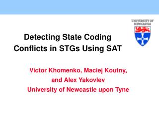 Detecting State Coding Conflicts in STGs Using  SAT