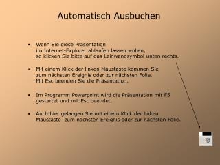 Automatisch Ausbuchen
