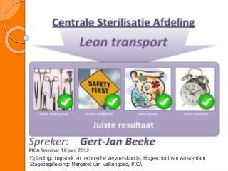 Opleiding: Logistiek en technische vervoerskunde, Hogeschool van Amsterdam