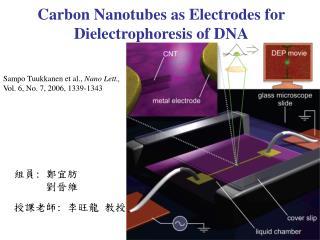 Sampo Tuukkanen et al.,  Nano Lett., Vol. 6, No. 7, 2006, 1339-1343