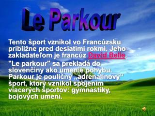 Le Parkour