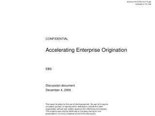 Accelerating Enterprise Origination
