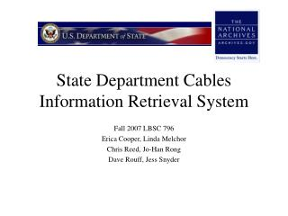 State Department Cables Information Retrieval System