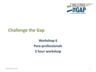 Challenge the Gap