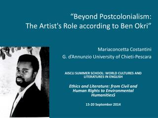AISCLI SUMMER SCHOOL: WORLD CULTURES AND LITERATURES IN  ENGLISH