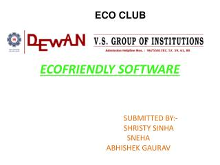 ECOFRIENDLY SOFTWARE