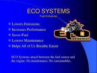 ECO SYSTEMS Fuel Enhancer