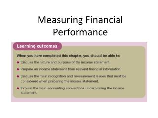 Measuring Financial Performance