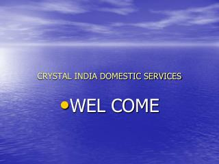 CRYSTAL INDIA DOMESTIC SERVICES
