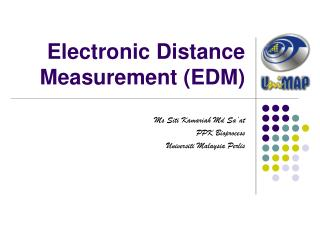 Electronic Distance Measurement (EDM)