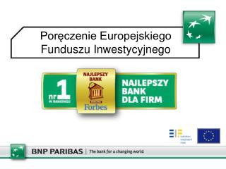 Poręczenie Europejskiego Funduszu Inwestycyjnego