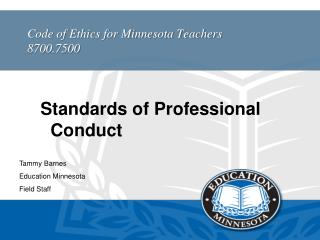 Code of Ethics for Minnesota Teachers 8700.7500