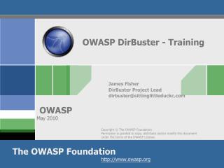 OWASP DirBuster - Training