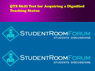 QTS Skill Test for Acquiring a Dignified Teaching Status