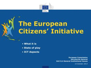 The European Citizens� Initiative