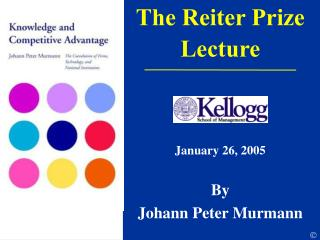 The Reiter Prize  Lecture