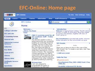 EFC-Online: Home page