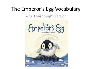 The Emperor's Egg Vocabulary