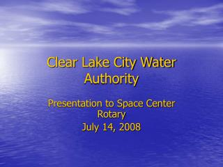 Clear Lake City Water Authority