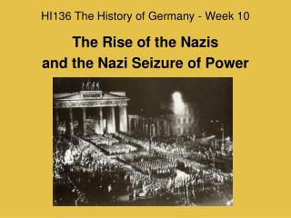 HI136 The History of Germany - Week 10