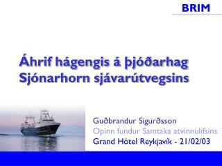 Áhrif hágengis á þjóðarhag Sjónarhorn sjávarútvegsins