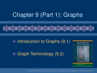 Chapter 9 (Part 1): Graphs