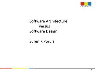 Software Architecture  versus Software Design Suren  K  Poruri