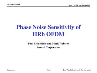 Phase Noise Sensitivity of HRb OFDM