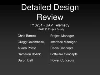 Detailed Design Review