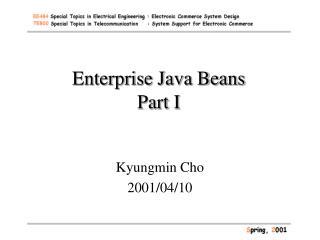 Enterprise Java Beans Part I