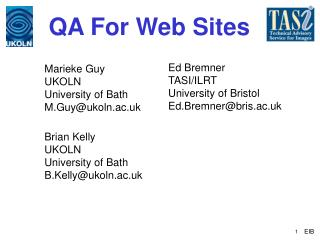QA For Web Sites