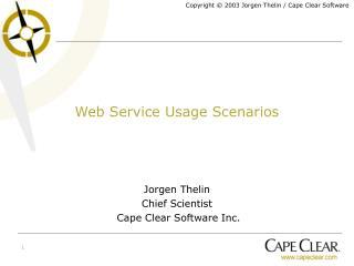 Web Service Usage Scenarios