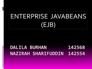 DALILA BURHAN 142568 NAZIRAH SHARIFUDDIN 142554