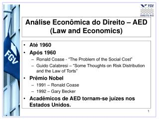 An lise Econ mica do Direito   AED Law and Economics