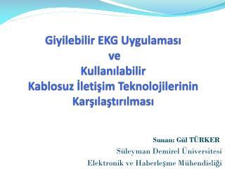 Sunan: Gül TÜRKER             Süleyman Demirel Üniversitesi
