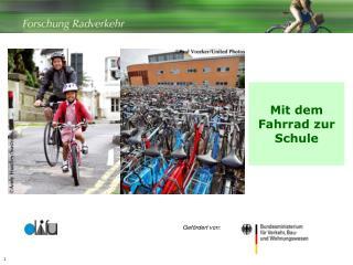 Mit dem Fahrrad zur Schule
