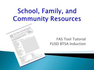 School, Family, and Community Resources