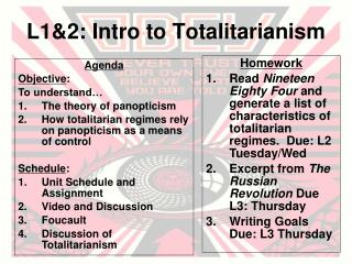L1&2: Intro to Totalitarianism