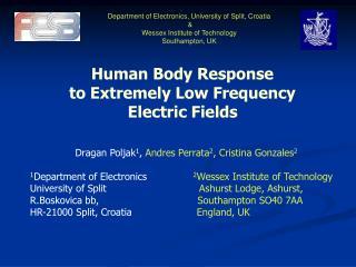 Department of Electronics ,  University of Split, Croatia  & Wessex Institute of Technology