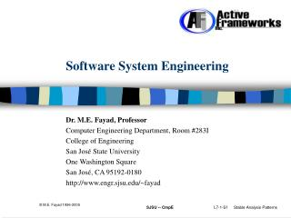 Software System Engineering