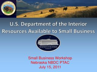 U.S. Department of the Interior Resources Available to Small Business