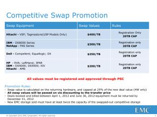 Competitive Swap  Promotion